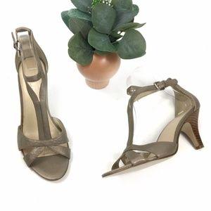 "Nine West | ""Believe"" T-strap Heel Sandals sz 8M"
